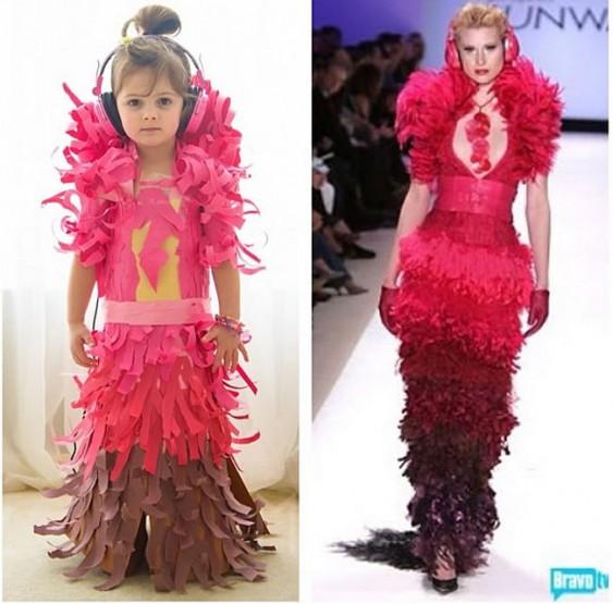 Αυτό το γλυκό κοριτσάκι φτιάχνει διάσημα Φορέματα από Χαρτί!