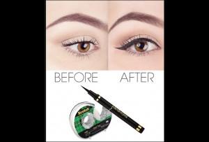 Πως να κάνεις τέλεια γραμμή eyeliner με τη βοήθεια κολλητικής ταινίας!