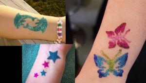 10 Όμορφες ιδέες για υπέροχα Glitter Tattoos