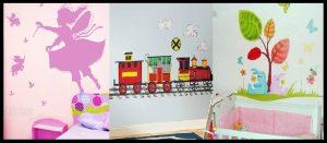 20 Αυτοκόλλητα τοίχου για τη διακόσμηση παιδικού δωματίου!