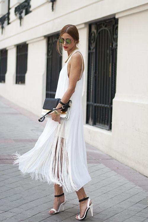 Φόρεμα με κρόσσια Πως να φορέσεις τα κρόσσια