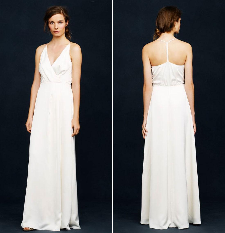 ab5e116d341c Τέλεια επιλογή για όσες προτιμούν απλό φόρεμα για τον γάμο τους αντί για  κάποιο νυφικό.