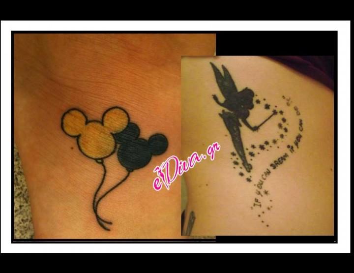 Όμορφες ιδέες για μικρά διακριτικά Tattoo Disney!