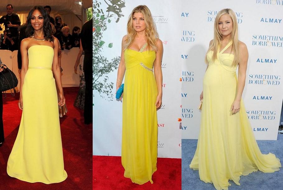 e4914606d297 Για τα φορέματα σε κίτρινες αποχρώσεις χρησιμοποίησε κόκκινο lipstick.
