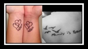 40 Όμορφες ιδέες Τατουάζ για την οικογένεια!