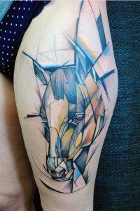 watercolor tattoo alogo