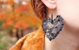 Φτιάξε μόνη σου υπέροχα σκουλαρίκια από δαντέλα!