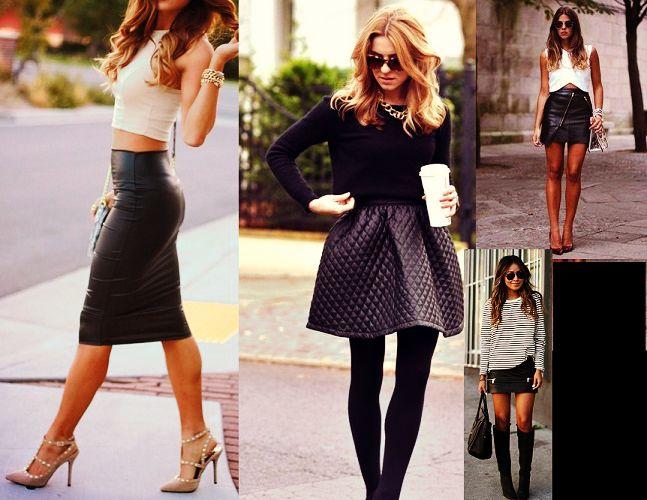7 Τρόποι για να φορέσεις τη δερμάτινη φούστα σου!  c3d103d0cf1