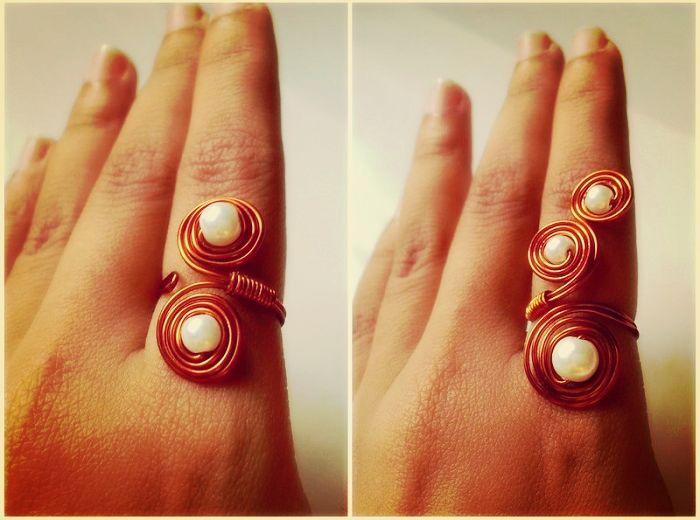 Πως να φτιάξεις σετ δαχτυλίδι και σκουλαρίκια από σύρμα!