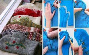 DIY: Τι μπορείς να φτιάξεις από ένα παλιό πουλόβερ!