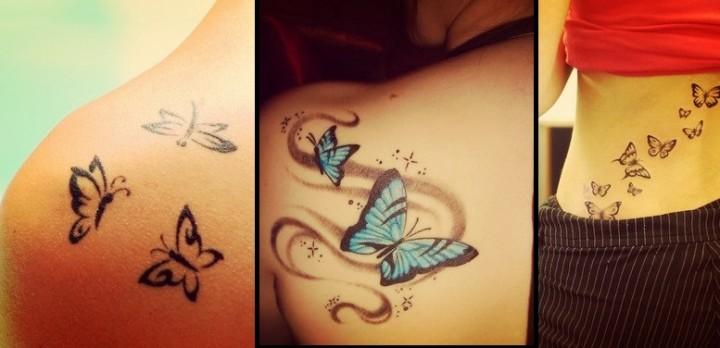 25 Υπέροχα γυναικεία Tattoo με πεταλούδες!
