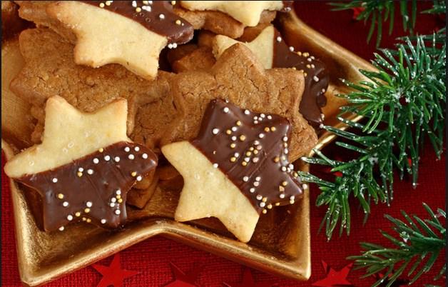Συνταγή για Χριστουγεννιάτικα μπισκοτάκια με σοκολάτα!