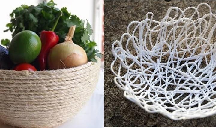 DIY Φτιάξε διακοσμητικά μπολ με σπάγκο και σχοινί