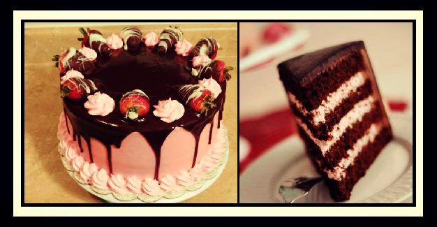 Συνταγή για οικονομική τούρτα σοκολάτα - φράουλα!