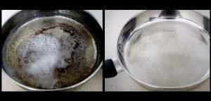 Πως να καθαρίσεις ένα καμένο τηγάνι και την σκουριά!