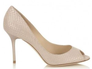nude peep toe goves