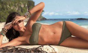xaki strapless bikini