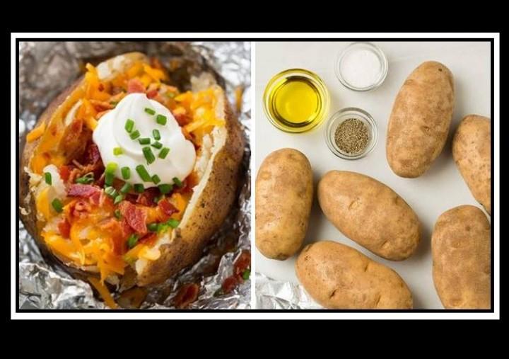 Λαχταριστή ψητή πατάτα με cheddar, μπέικον και φιλαδέλφεια!