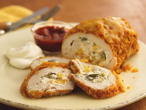 Κοτόπουλο ρολό με αρωματικά χόρτα και τυρί!