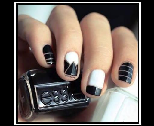 8 Negative space nails art!