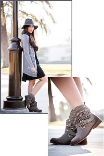 ankle boots dressing