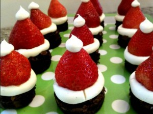 brownie-χριστουγεννιάτικο-κέικ