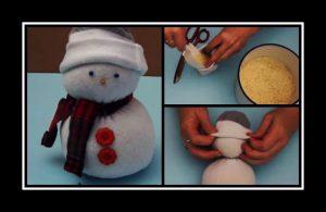 Φτιάξε μόνη σου ένα λούτρινο χιονάνθρωπο από κάλτσα!