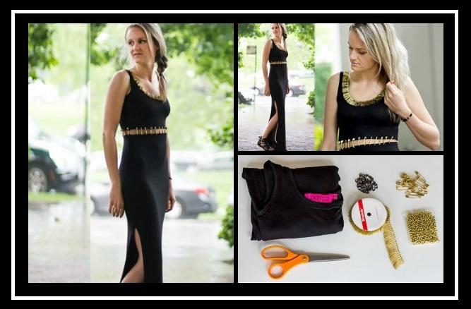 DIY: Πως να μετατρέψεις ένα maxi μαύρο φόρεμα!