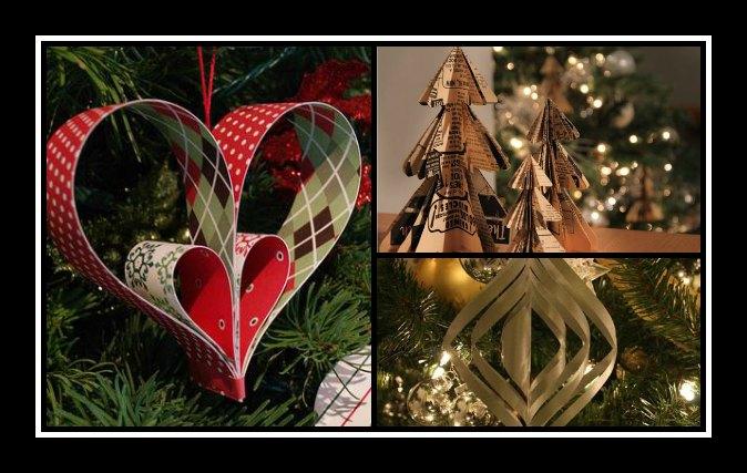 Φτιάξε μόνη σου Χριστουγεννιάτικα χάρτινα στολίδια!