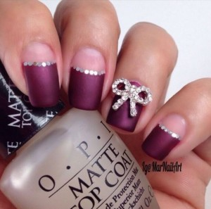 half moon manicure 2015