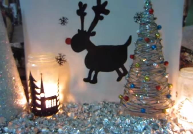 Φτιάξε ένα χριστουγεννιάτικο δέντρο από σπάγκο και χρυσόσκονη!