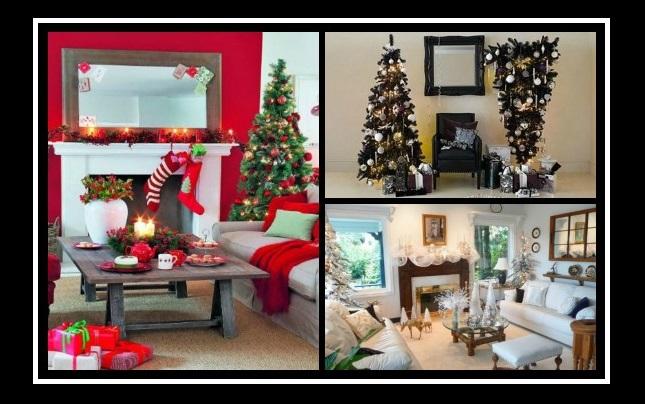 10 Εκπληκτικές ιδέες για χριστουγεννιάτικη διακόσμηση σαλονιού