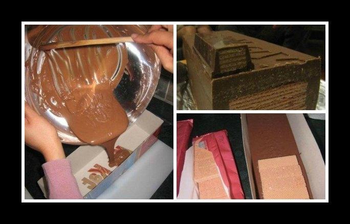 Εύκολη συνταγή για να φτιάξεις ένα μεγάλο Kit Kat!