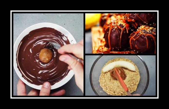 Εύκολη συνταγή για μπάλες Banoffee με σοκολάτα!