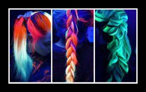 Blacklight Rainbow μαλλιά: Νέο trend στις βαφές μαλλιών!