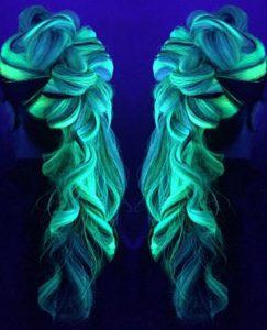 blacklight hair