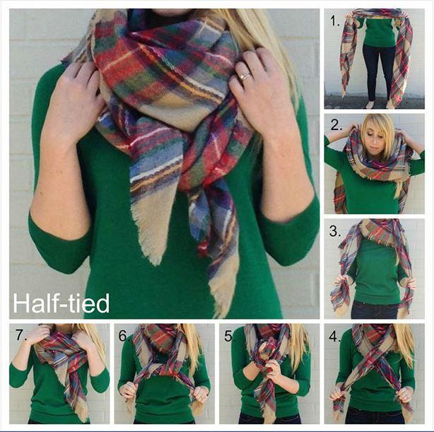 half-tied scarf