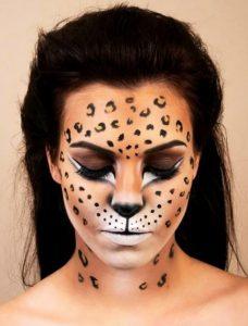 leopard makeup
