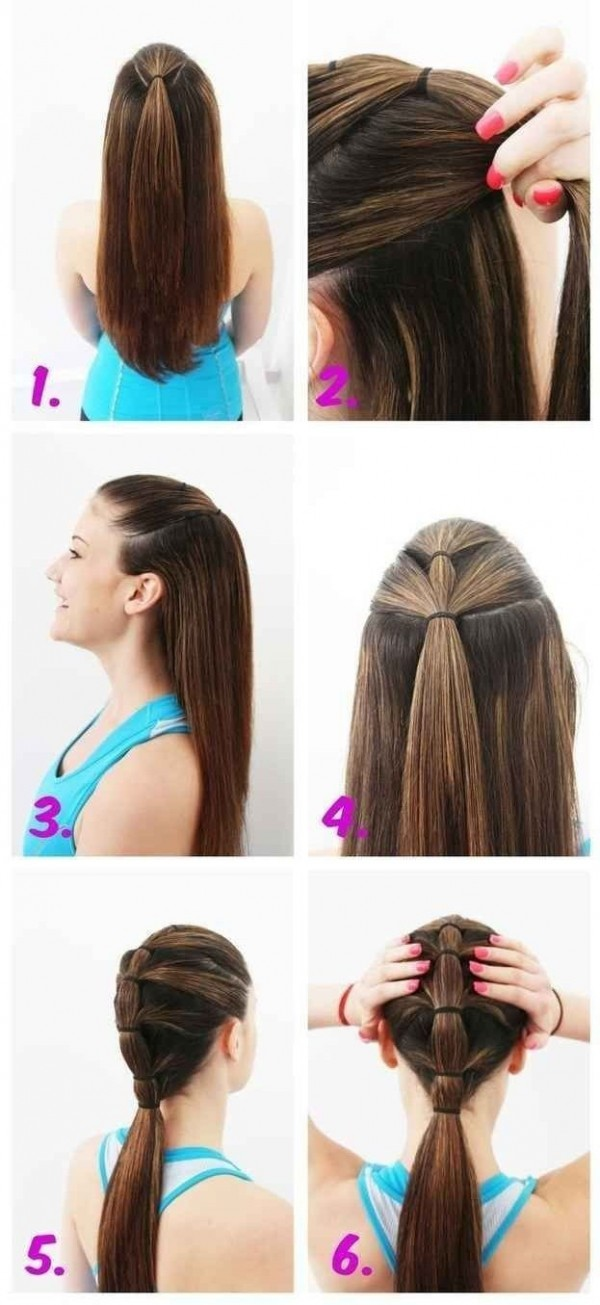 tiered ponytail