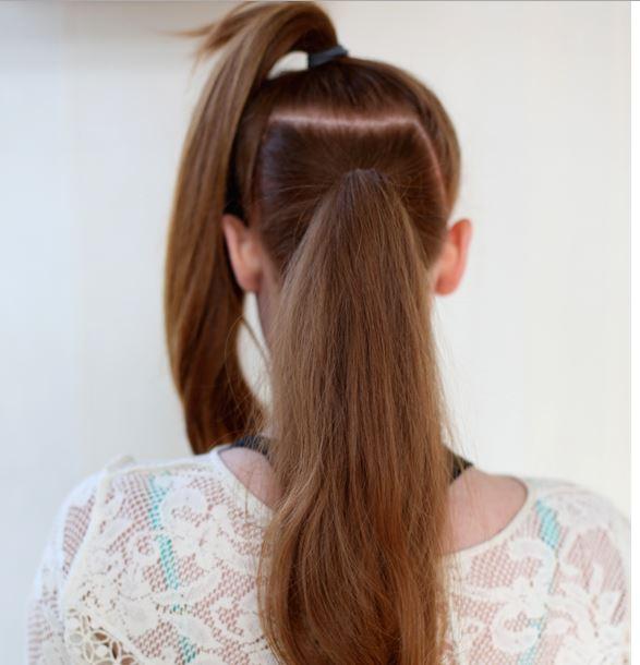 2 ponytails