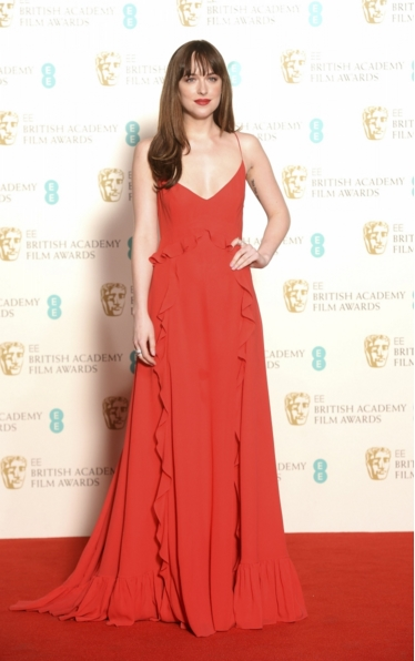Dakota Johnson bafta 2016