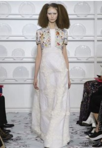 Schiaparelli wedding dress
