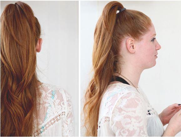 a ponytail
