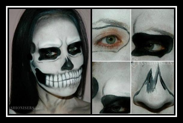 Πως να κάνεις αποκριάτικο μακιγιάζ σκελετού!
