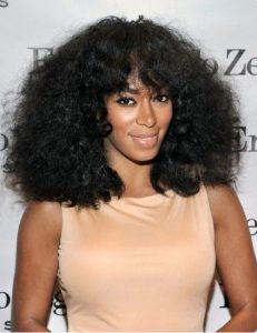 bangs in curly hair