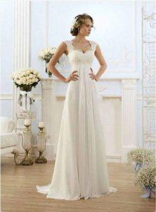 chffon wedding dress