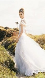 cotton organdy wedding gown