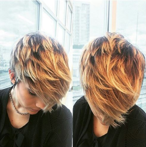 golden blonde layers