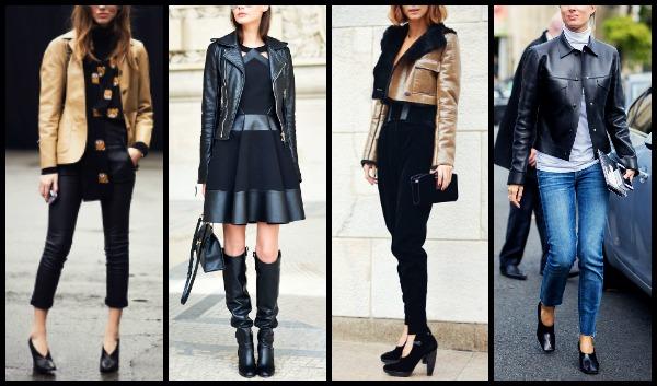 8 Διαφορετικοί τρόποι να φορέσεις το δερμάτινο μπουφάν!  fc32bb18378