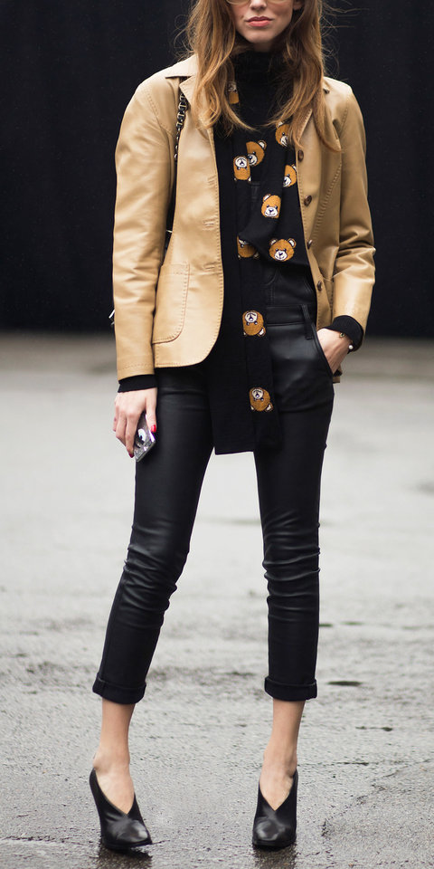 leather jacket and accessories